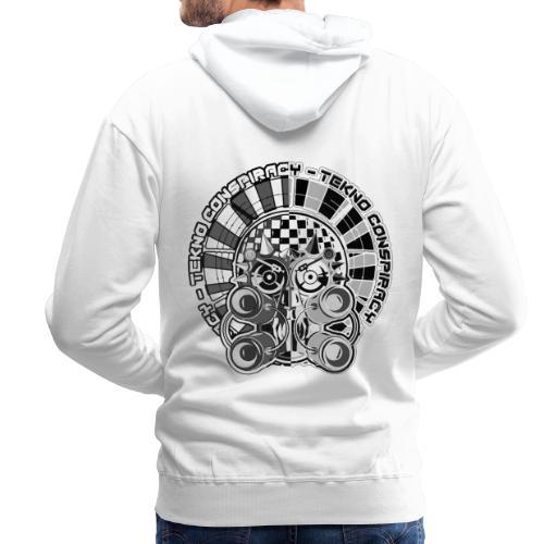 tekno conspiracy head 2 - Sweat-shirt à capuche Premium pour hommes