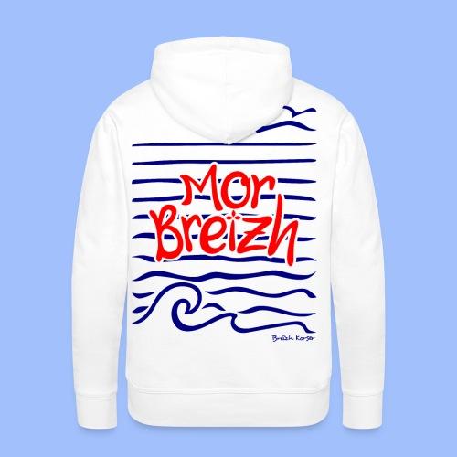 Mor Breizh (mer de Bretagne) - Sweat-shirt à capuche Premium pour hommes