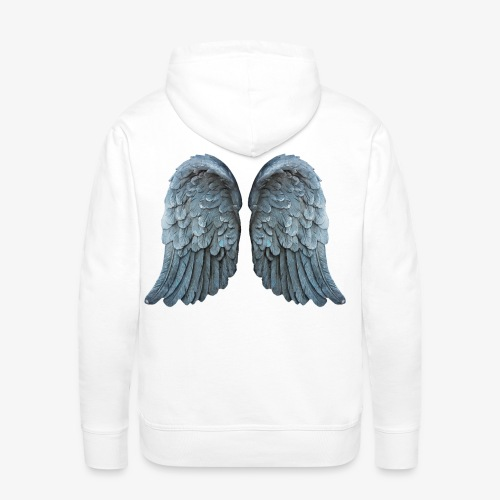 Angel wings - Bluza męska Premium z kapturem