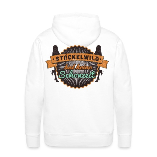 Stöckelwild Retro Badge - Männer Premium Hoodie