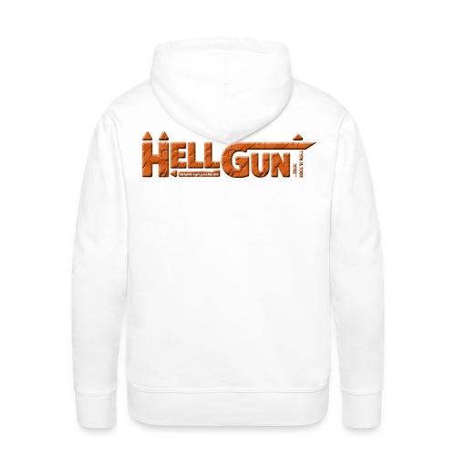 HELLGUN logo 2014 orange png - Männer Premium Hoodie