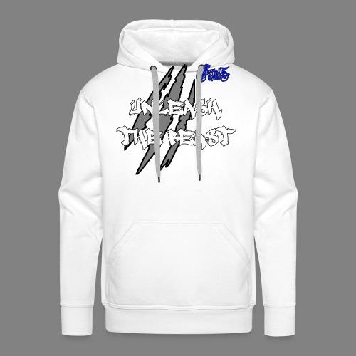 Face_avant_blanc_bleu - Sweat-shirt à capuche Premium pour hommes