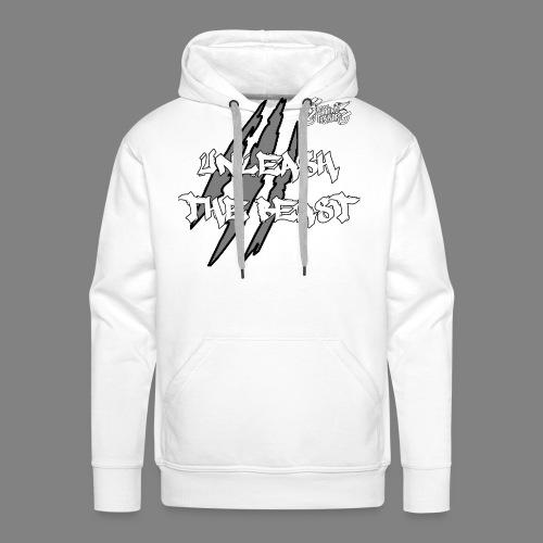 Face_avant_blanc_blanc - Sweat-shirt à capuche Premium pour hommes