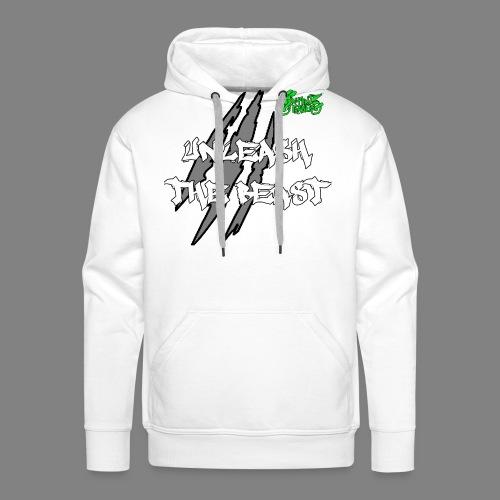 Face_avant_blanc_vert - Sweat-shirt à capuche Premium pour hommes