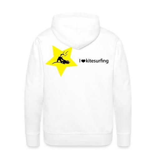 I love kitesurfing - Felpa con cappuccio premium da uomo