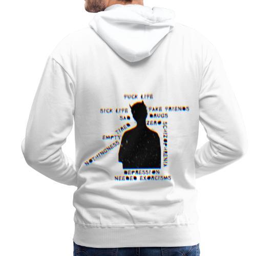 Sick Life (black) - Sweat-shirt à capuche Premium pour hommes