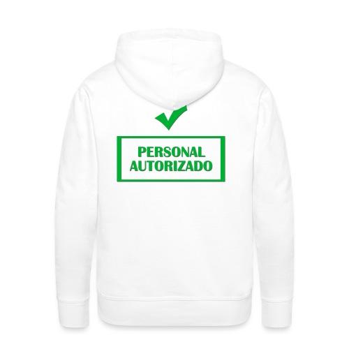 Personal autorizado - Sudadera con capucha premium para hombre