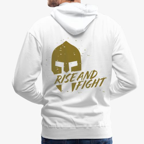RISE AND FIGHT - Männer Premium Hoodie