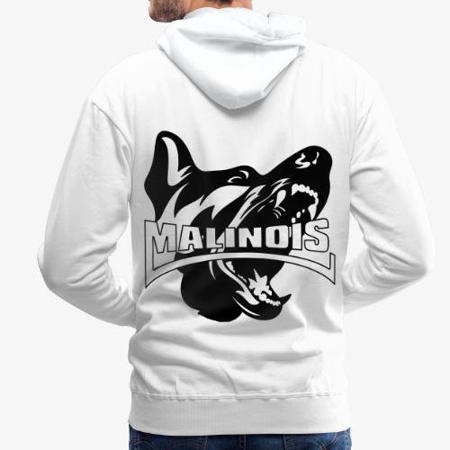 malinois - Sweat-shirt à capuche Premium pour hommes