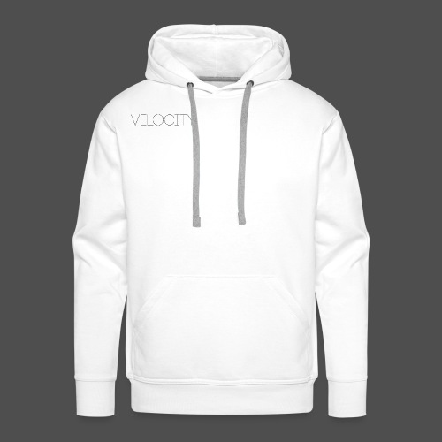 velocity black writing - Men's Premium Hoodie