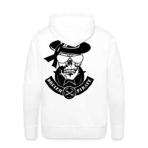 renegade breizh pirate gang tete de mort crane - Sweat-shirt à capuche Premium pour hommes