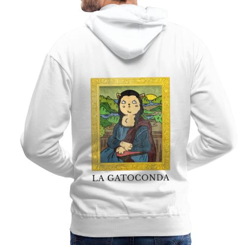 La GatoConda | Humor Gatos | Risas Miau - Sudadera con capucha premium para hombre