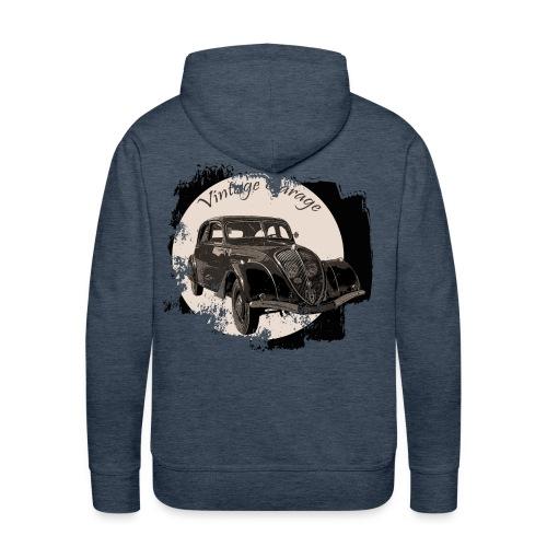 Vintage Garage 3 - Sweat-shirt à capuche Premium pour hommes