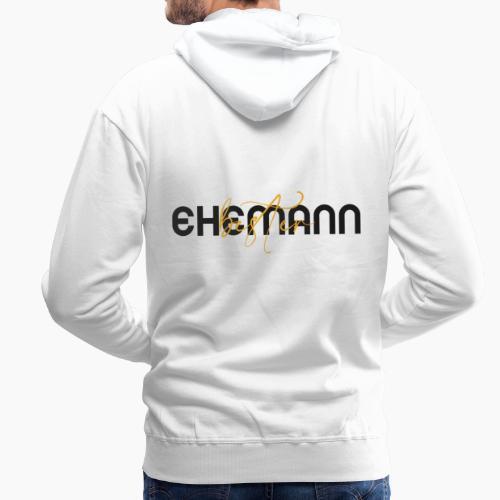 Bester Ehemann - Spruch in Schwarz/Gelb - Men's Premium Hoodie
