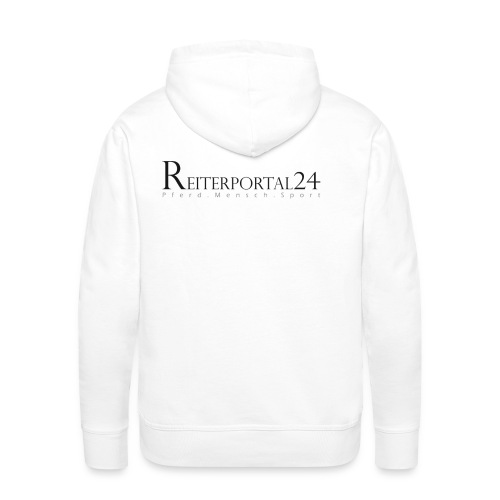 reiterportal 24pferd mensch sportohnerot - Männer Premium Hoodie