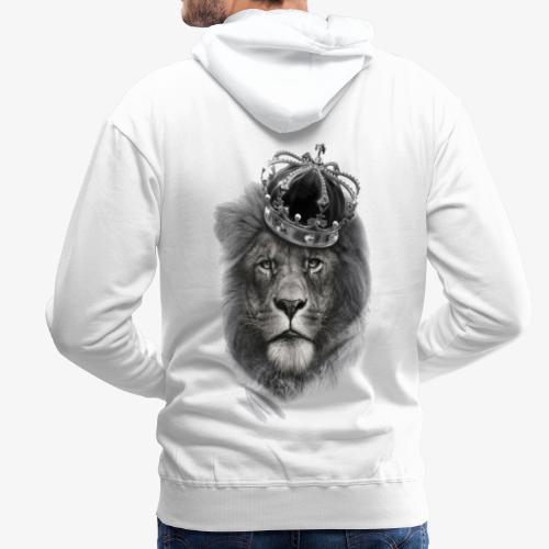 REY LEÓN - Sudadera con capucha premium para hombre