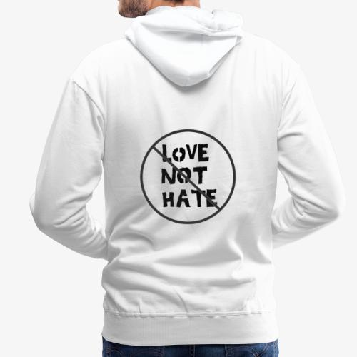 Love Not Hate - Men's Premium Hoodie