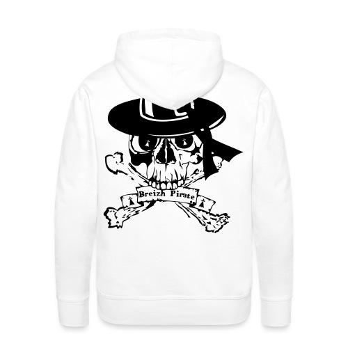 breizh pirate oldfighter - Sweat-shirt à capuche Premium pour hommes