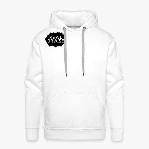 RealDraze logo schwarz mit weißer schrift png - Männer Premium Hoodie