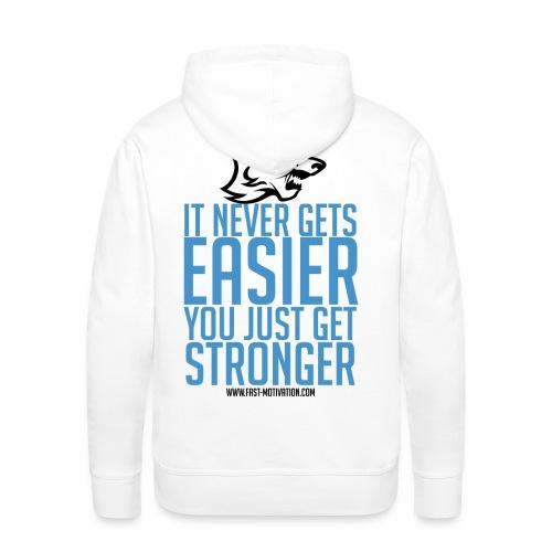 stronger blue blacklogo png - Sweat-shirt à capuche Premium pour hommes