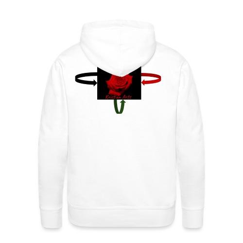 Kristian Arts Roses are red kollektion - Herre Premium hættetrøje
