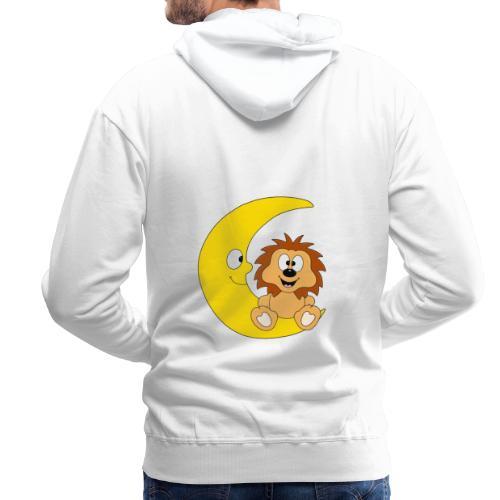 Lustiger Igel - Mond - Kinder - Baby - Fun - Männer Premium Hoodie