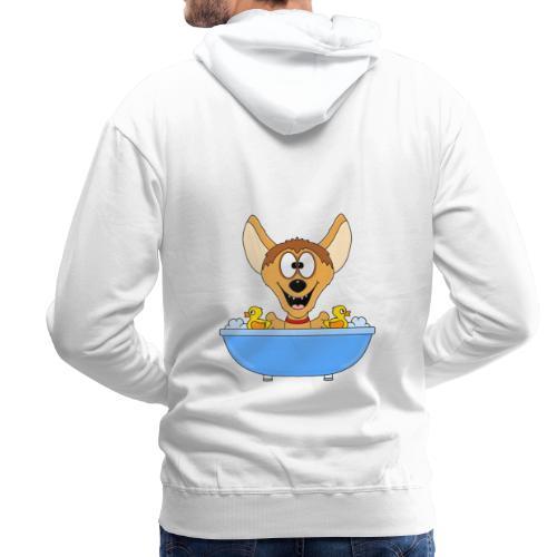 Lustige Hyäne - Badewanne - Kinder - Baby - Fun - Männer Premium Hoodie
