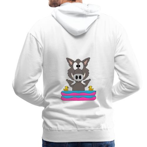 Lustiges Wildschwein - Planschbecken - Shaka - Fun - Männer Premium Hoodie