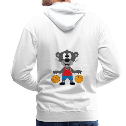 Lustiger Panther - Basketball - Sport - Tier - Fun - Männer Premium Hoodie