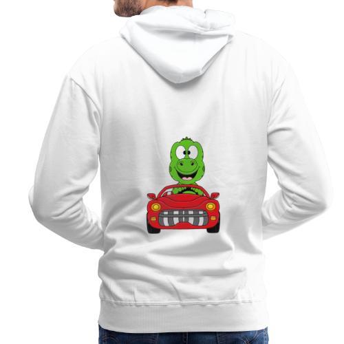 Lustiger Gecko - Echse - Auto - Cabrio - Car - Fun - Männer Premium Hoodie