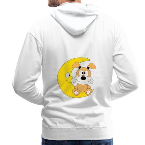 Lustiger Hund - Dog - Knochen - Mond - Tier - Männer Premium Hoodie