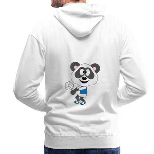 Lustiger Panda - Bär - Volleyball - Sport - Fun - Männer Premium Hoodie