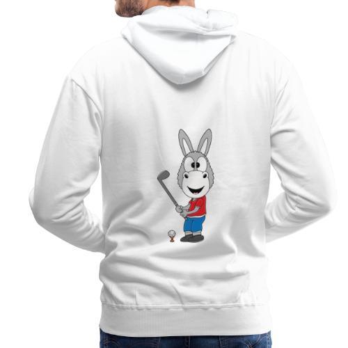 Lustiger Esel - Ass - Golf - Golfer - Sport - Männer Premium Hoodie