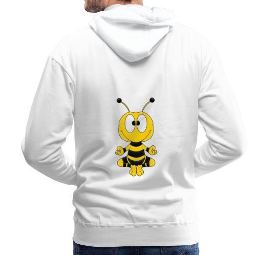 Lustige Biene - Yoga - Relax - Chill - Tier - Fun - Männer Premium Hoodie