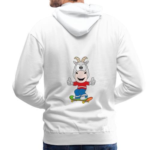 Lustige Ziege - Skateboard - Sport - Kind - Baby - Männer Premium Hoodie