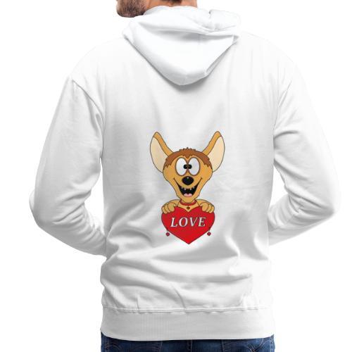 Lustige Hyäne - Herz - Liebe - Love - Tier - Fun - Männer Premium Hoodie