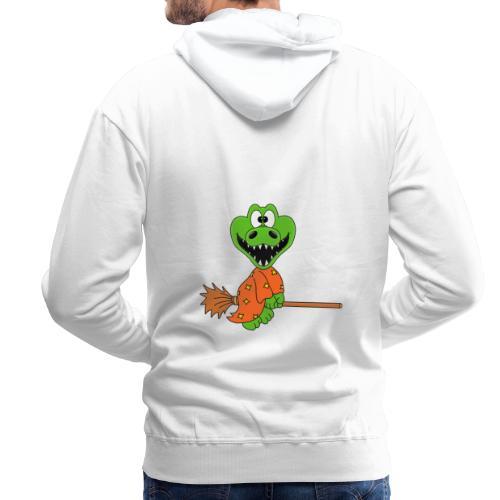 Lustiges Krokodil - Hexe - Kind - Baby - Fun - Männer Premium Hoodie