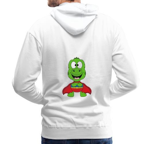 Lustige Echse - Gecko - Superheld - Kind - Baby - Männer Premium Hoodie