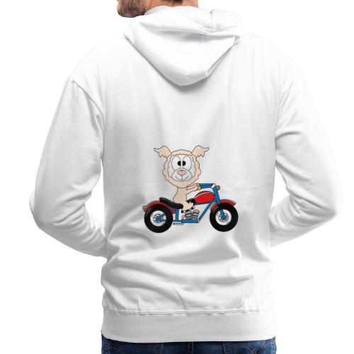 Lustiges Lama - Alpaka - Motorrad - Biker - Fun - Männer Premium Hoodie