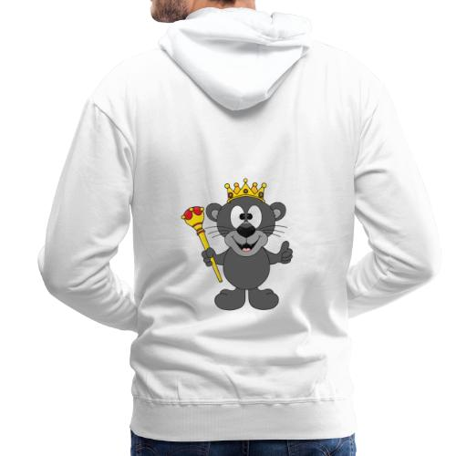 Lustiger Panther - König - Königin - Tier - Kind - Männer Premium Hoodie