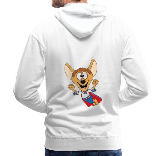 Lustige Hyäne - Superheld - Kind - Baby - Tier - Männer Premium Hoodie