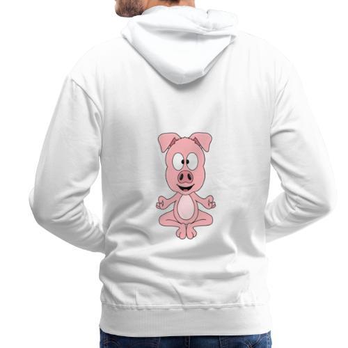 Lustiges Schwein - Yoga - Chill - Relax - Tier - Männer Premium Hoodie