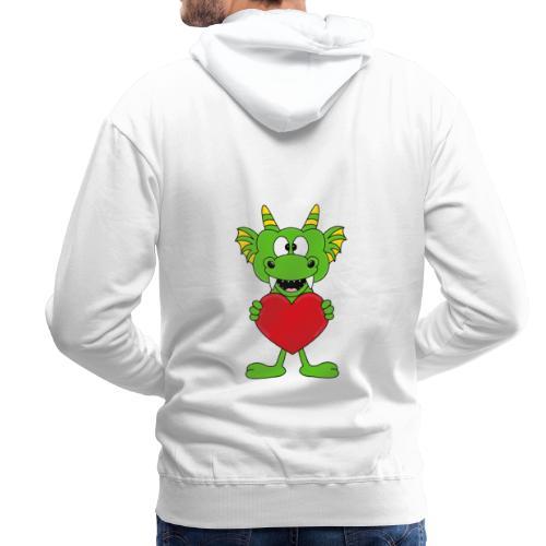 Lustiger Drache - Dragon - Herz - Liebe - Love - Männer Premium Hoodie