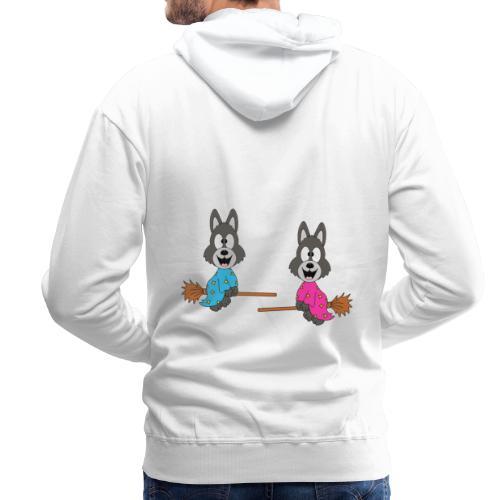 Wölfe - Hexenbesen - Kind - Baby - Tier - Fun - Männer Premium Hoodie