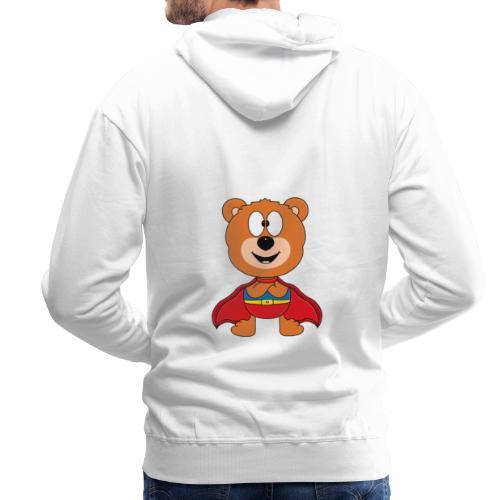 Teddy - Bär - Superheld - Kind - Baby - Tier - Männer Premium Hoodie