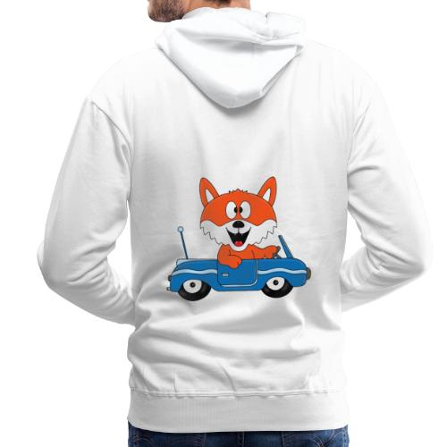 Fuchs - Auto - Cabrio - Tier - Führerschein - Fun - Männer Premium Hoodie