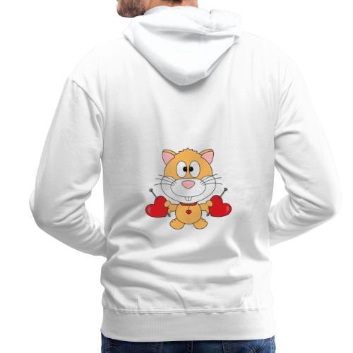 Hamster - Herzen - Liebe - Love - Kind - Baby - Männer Premium Hoodie