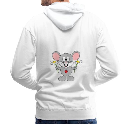 Maus - Blumen - Garten - Gärtner - Liebe - Love - Männer Premium Hoodie