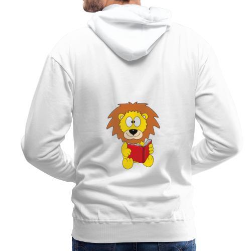 Löwe - Buch - Lesen - Geschichte - Kind - Tier - Männer Premium Hoodie