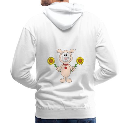 Lama - Alpaka - Sonnenblumen - Tier - Liebe - Männer Premium Hoodie